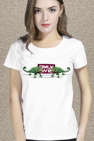 футболка с принтом Only we
